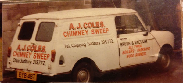 Alan Coles chimney sweep since 1982
